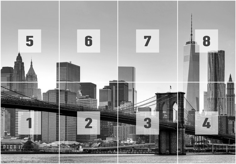Foto Behang New York.New York Brooklyn Bridge Zwart Wit Fotobehang Behang Bestel