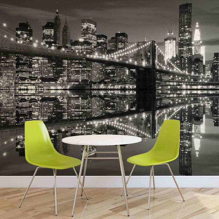 New York City Skyline Brooklyn Bridge Fotobehang