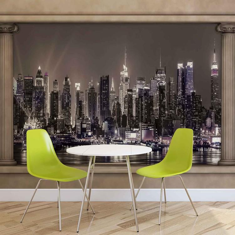 New York City Skyline Window View Fotobehang Behang Bestel Nu Op