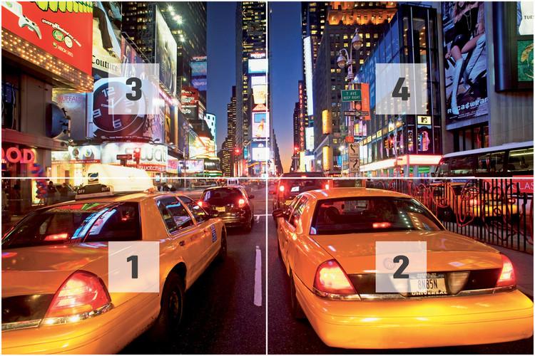 New York - taxi Fotobehang