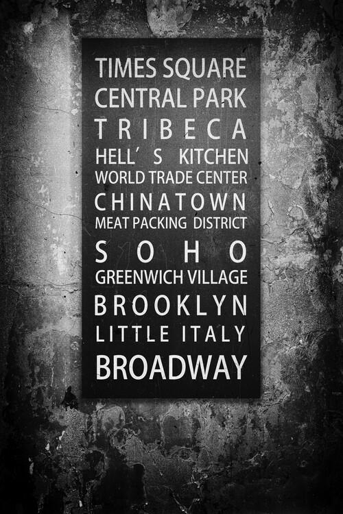 NYC Districts Fotobehang