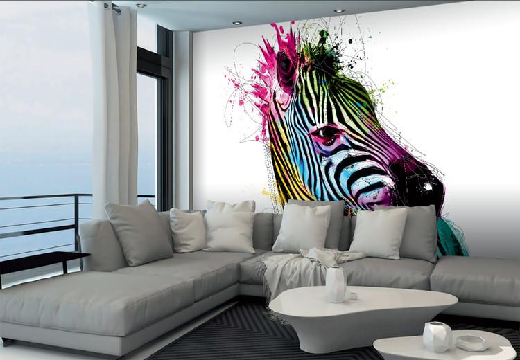 Behang Kinderkamer Zebra : Patrice murciano zebra fotobehang behang bestel nu op