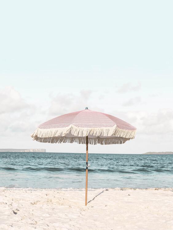 Pink Umbrella Fotobehang