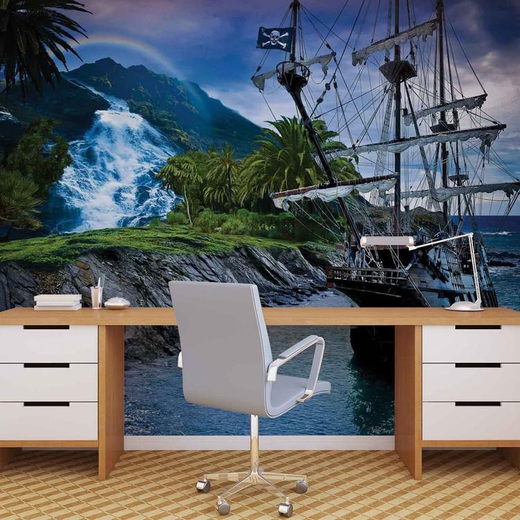 Pirate Sailing Ship Fotobehang