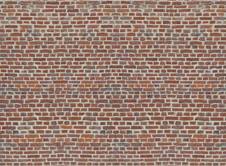 Red Brick Wall Fotobehang
