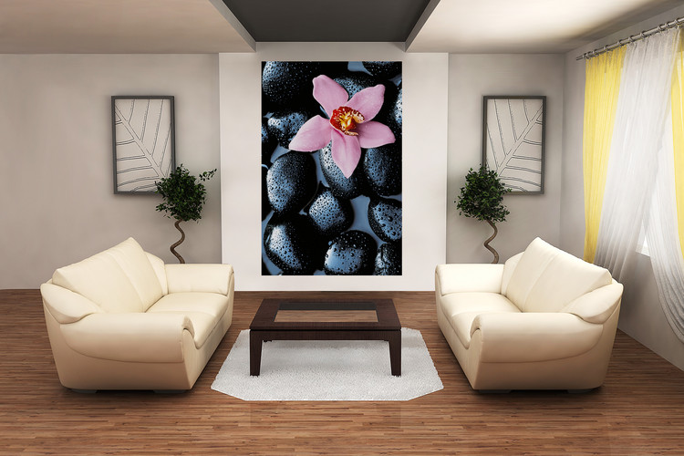 STONE ORCHID Fotobehang