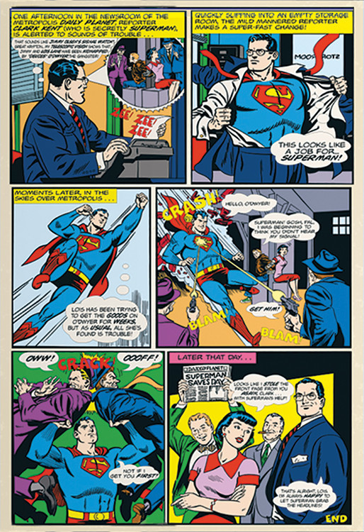 Superman Comic Fotobehang