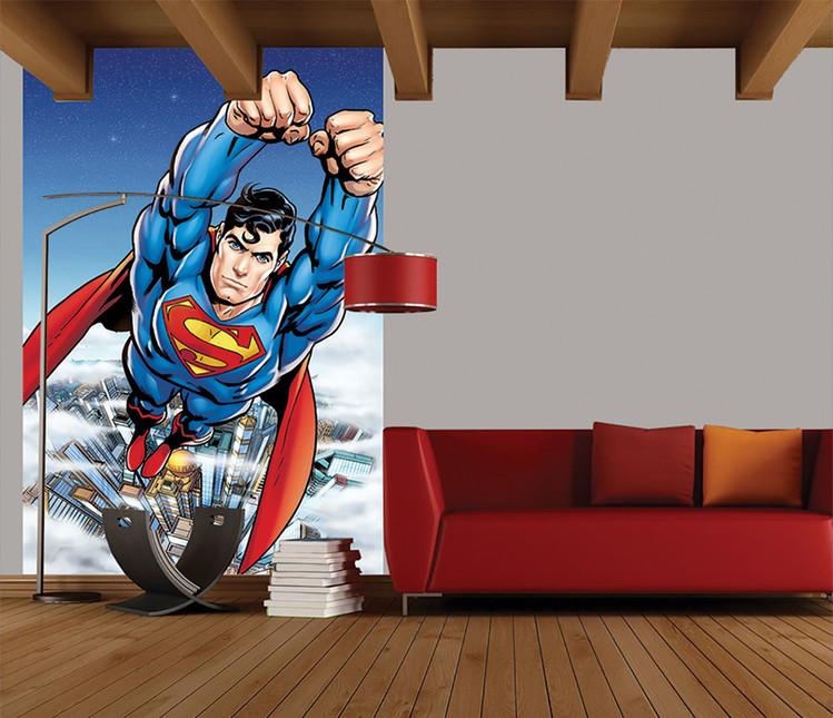 Superman Flying Fotobehang