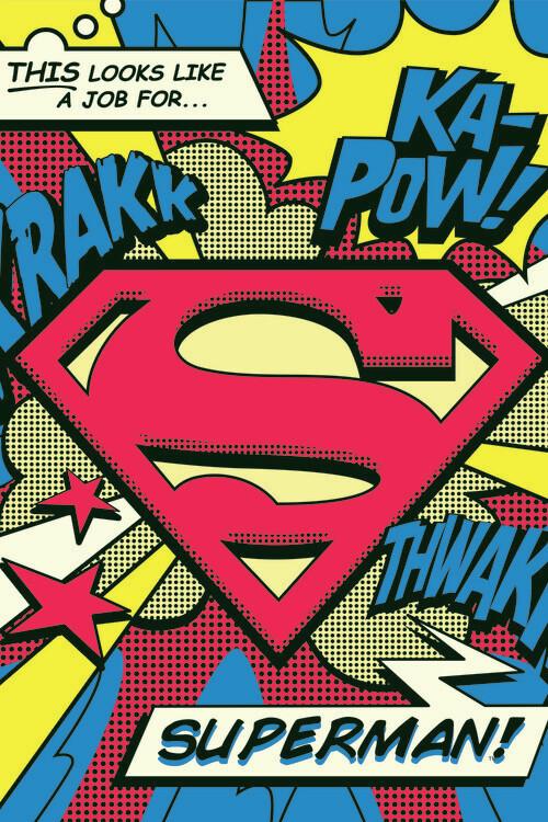 Superman's job Fotobehang
