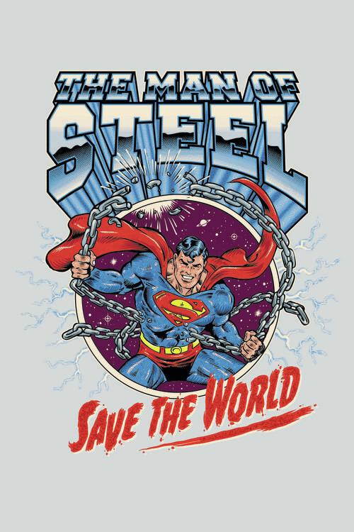 Superman - Save the world Fotobehang