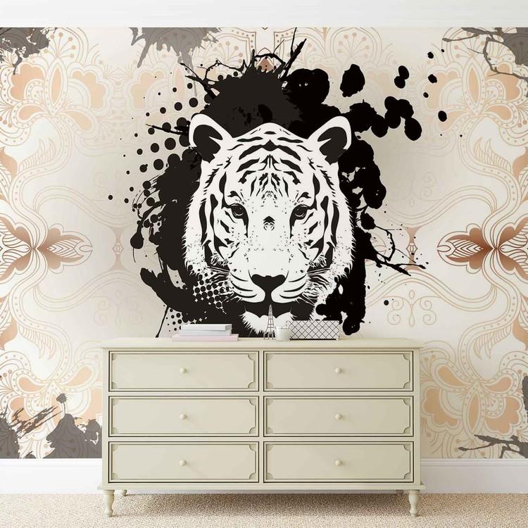 Tiger Abstract Fotobehang