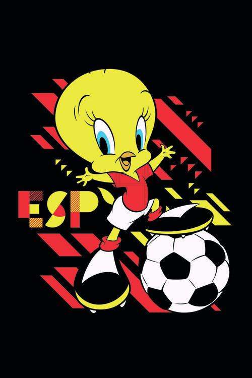 Tweety and football Fotobehang