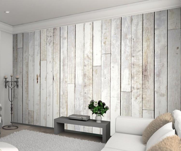 Whitewashing Wood: Whitewash Wood Fotobehang, Behang