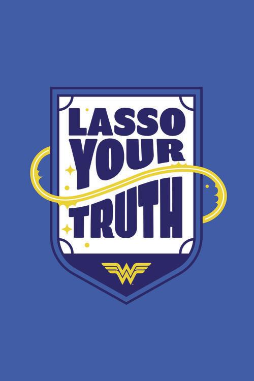 Wonder Woman - Lasso your truth Fotobehang