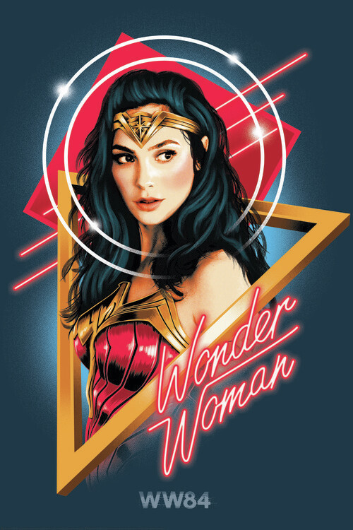 Wonder Woman - Welcome to the 80s Fotobehang