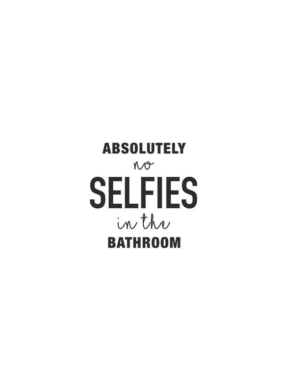Fotografia artystyczna Absolutely no selfies