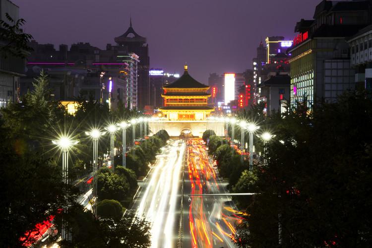 Fotografia artystyczna China 10MKm2 Collection - City Night Xi'an