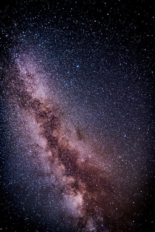 Fotografia artystyczna Details of Milky Way of St-Maria with lilac-blue graded II