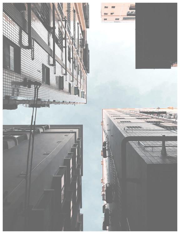 Fotografia artystyczna high rises ground view