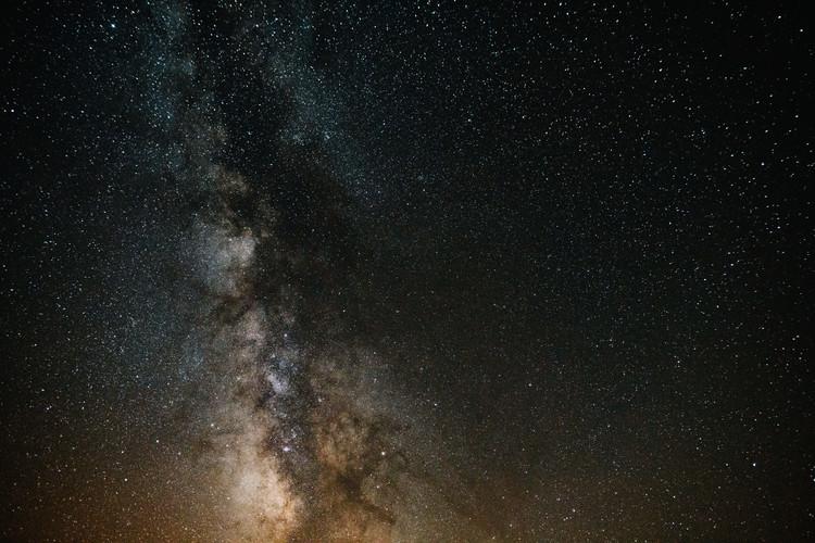 Fotografia d'arte Details of Milky Way of St-Maria with brown-dark graded