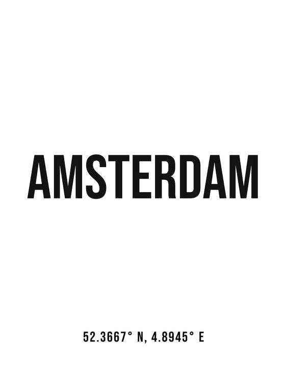 Fotografia d'arte Amsterdam simple coordinates