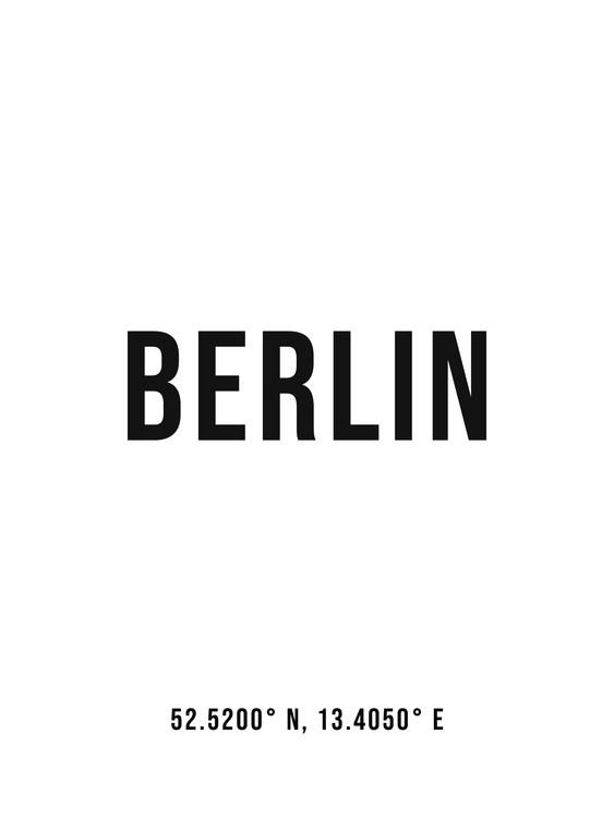 Fotografia d'arte Berlin simple coordinates