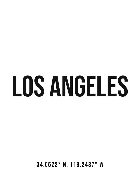 Fotografia d'arte Los Angeles simple coordinates
