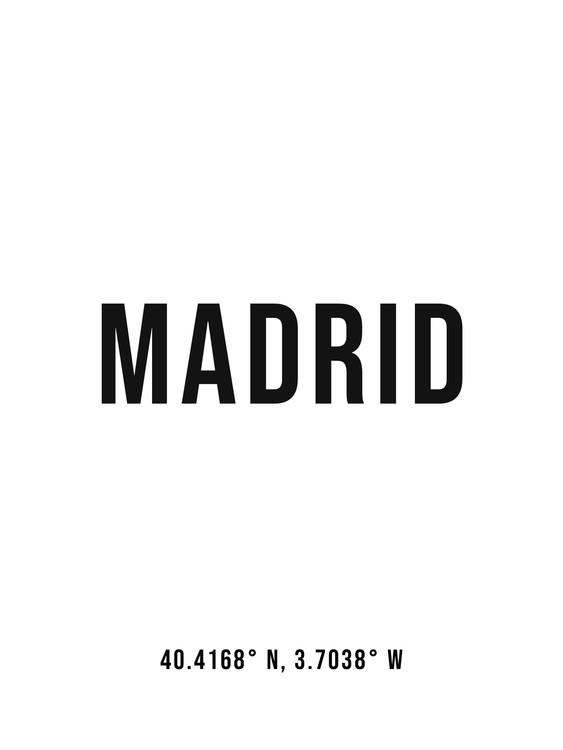Fotografia d'arte Madrid simple coordinates