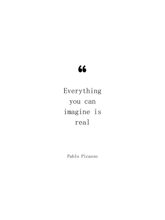 Fotografia d'arte Picasso quote