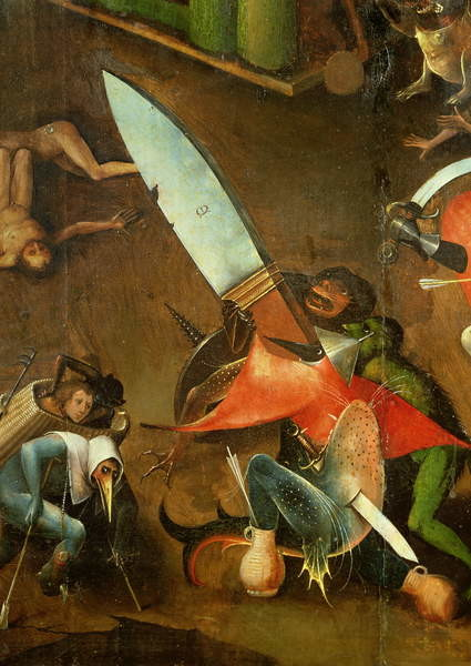 The Last Judgement : Detail of the Dagger - Stampe d'arte