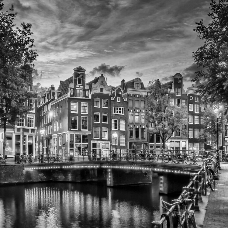 Fotografii artistice AMSTERDAM Idyllic impression from Singel | Monochrome