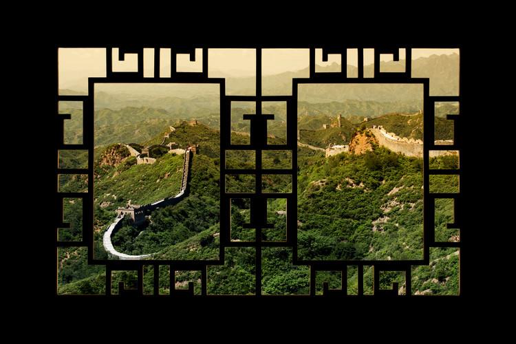 Fotografii artistice Asian Window - Great Wall of China
