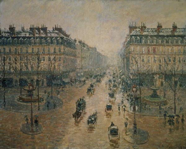 Avenue de L'Opera, Paris, 1898 Reproducere