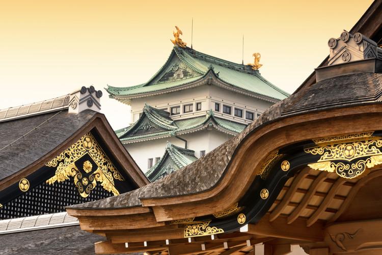 Fotografii artistice Nagoya Castle at Sunset