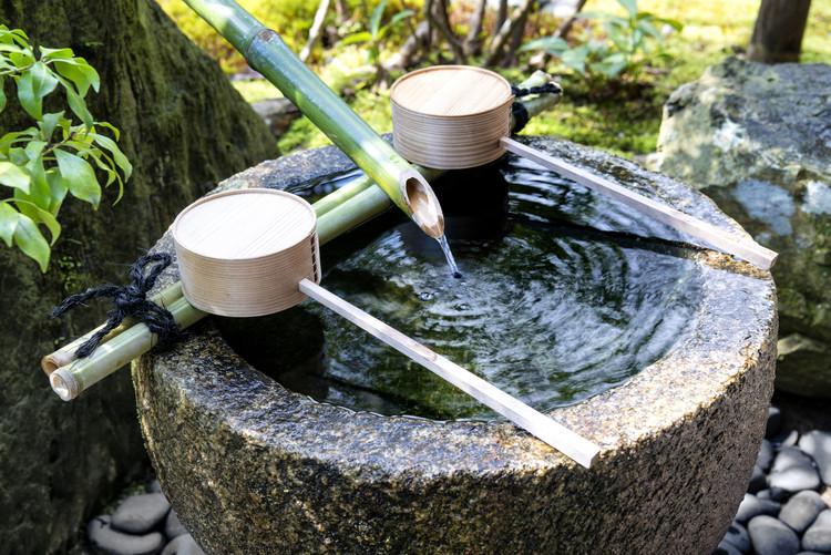 Fotografii artistice Natural Japanese Fountain