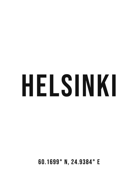 Fotografii artistice Helsinki simple coordinates