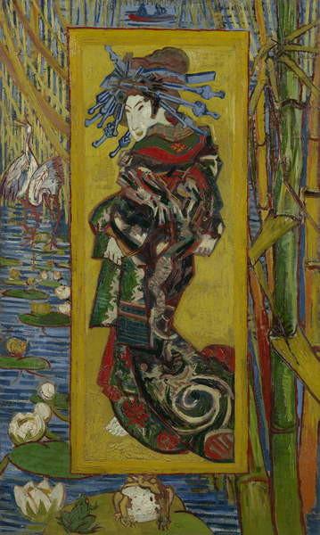 Japonaiserie: Courtesan or Oiran (after Kesai Eisen), Paris, 1887 Reproducere