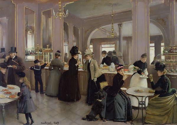 La Patisserie Gloppe, Champs Elysees, Paris, 1889 Reproducere