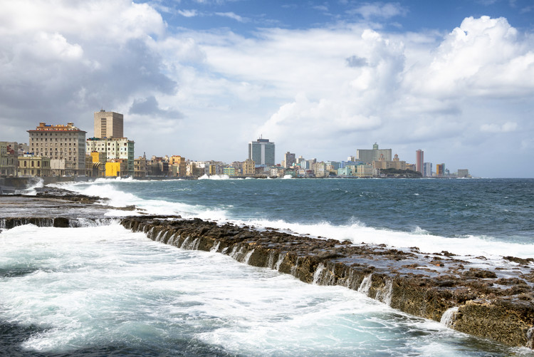 Fotografii artistice Malecon Wall of Havana