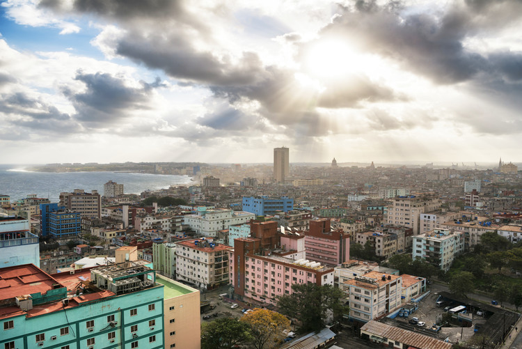 Fotografii artistice Rays of light on Havana