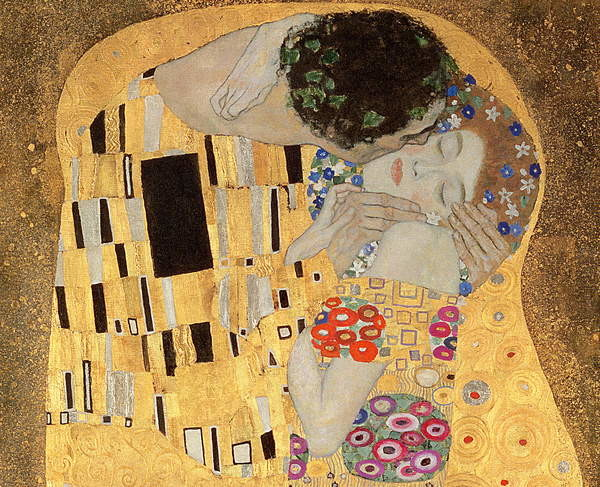 The Kiss, 1907-08 (oil on canvas) Reproducere