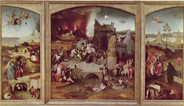 Triptych of the Temptation of St. Anthony Tablou Canvas