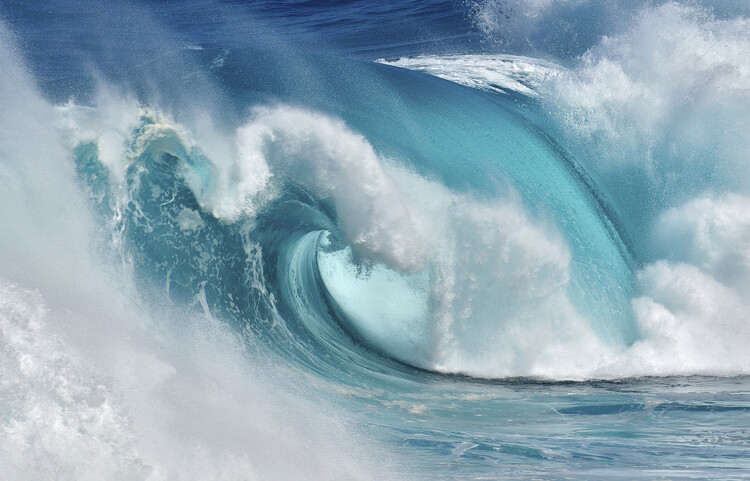 Fotografii artistice When the ocean turns into blue fire