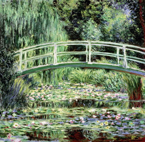 White Waterlilies, 1899 Reproducere