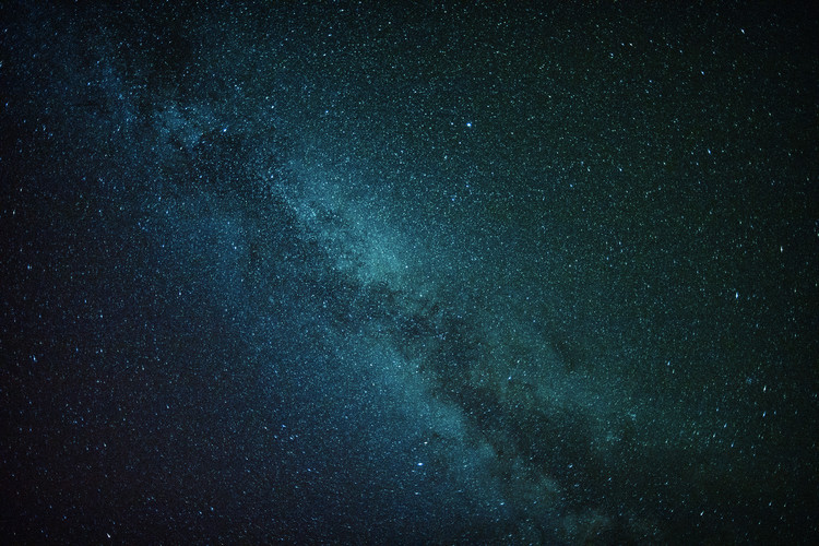 Ekskluzivna fotografska umetnost Astrophotography of blue Milky Way I