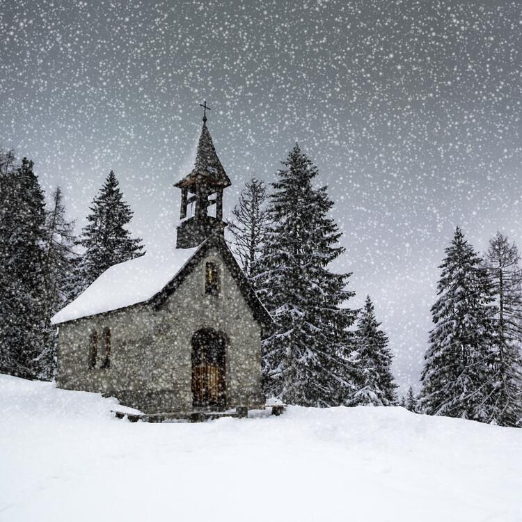 Ekskluzivna fotografska umetnost Bavarian Winters Tale Anna Chapel