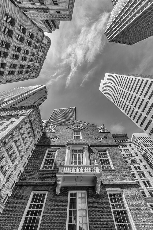 Ekskluzivna fotografska umetnost BOSTON Old State House