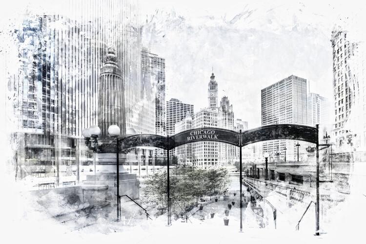 Ekskluzivna fotografska umetnost City Art CHICAGO Downtown