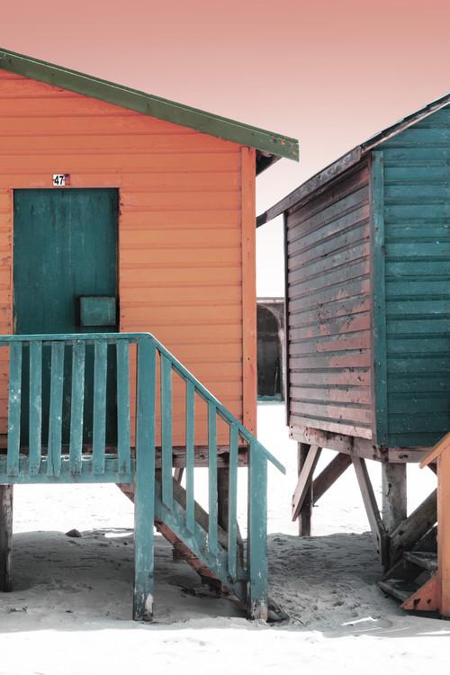 Ekskluzivna fotografska umetnost Colorful Houses Forty Seven Brick & Greensea