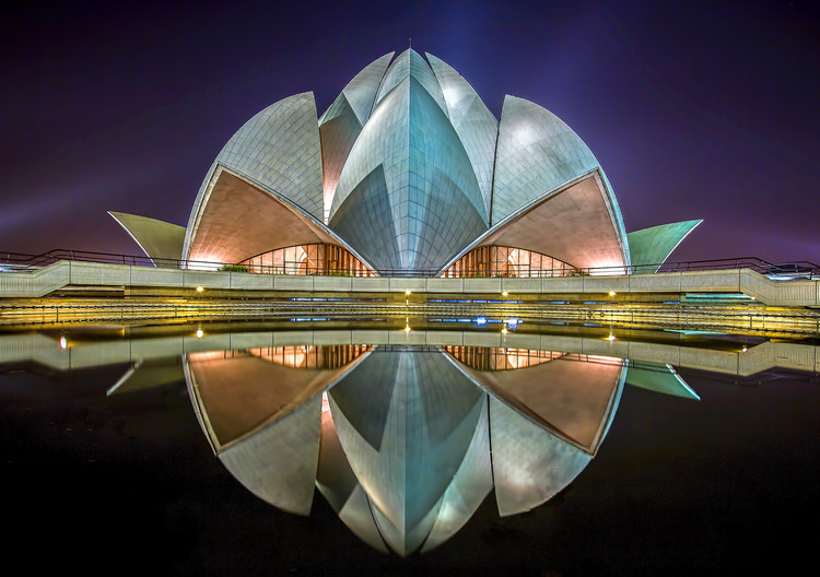 Ekskluzivna fotografska umetnost The Lotus Temple